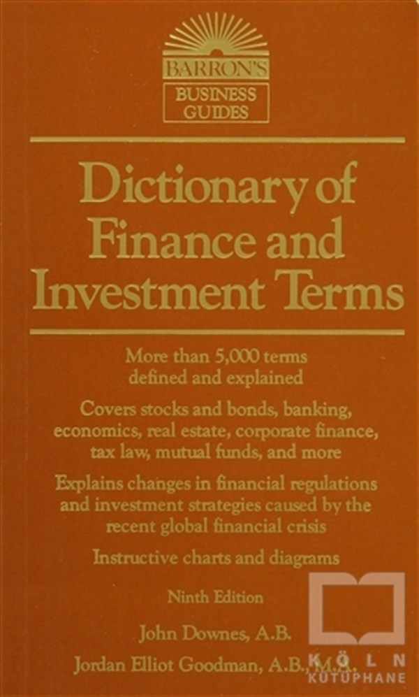 Barron's Dictionary Of Finance And İnvestment Terms