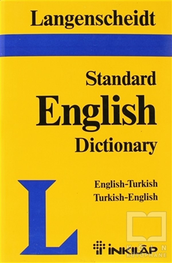 Langenscheid Standard English Dictionary English-Turkish Turkish-English
