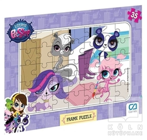 CA Games Littlest Pet Shop - Frame Puzzle 2 - Mor (35 Parça)