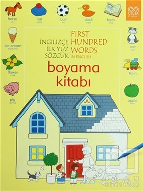 İngilizce İlk Yüz Sözcük - First Hundred Words in English Boyama Kitabı