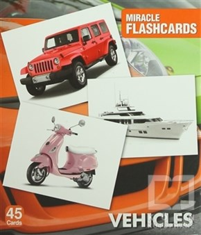 Miracle Flashcards - Vehicles Box 45 Cards