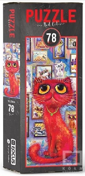 Blue Focus Red Cat – Puzzle