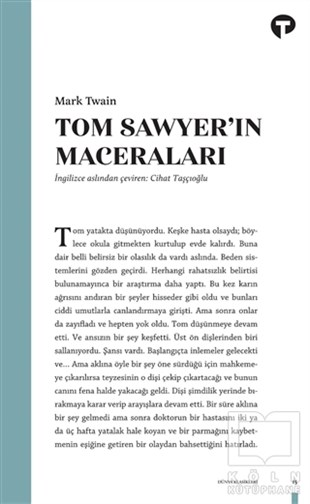 Mark TwainKlasiklerTom Sawyer'in Maceraları